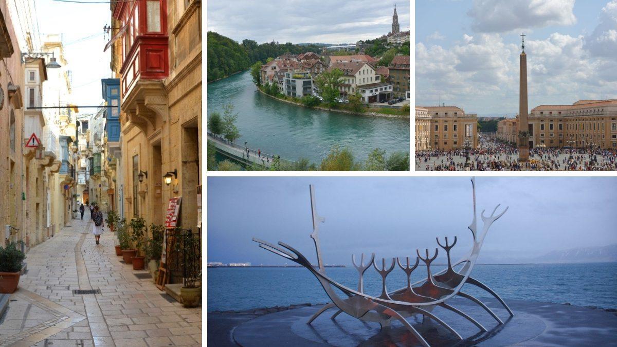 Europas minsta huvudstäder