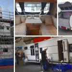 Elcyklar och husvagnar på Elmia Husvagn Husbil 2018