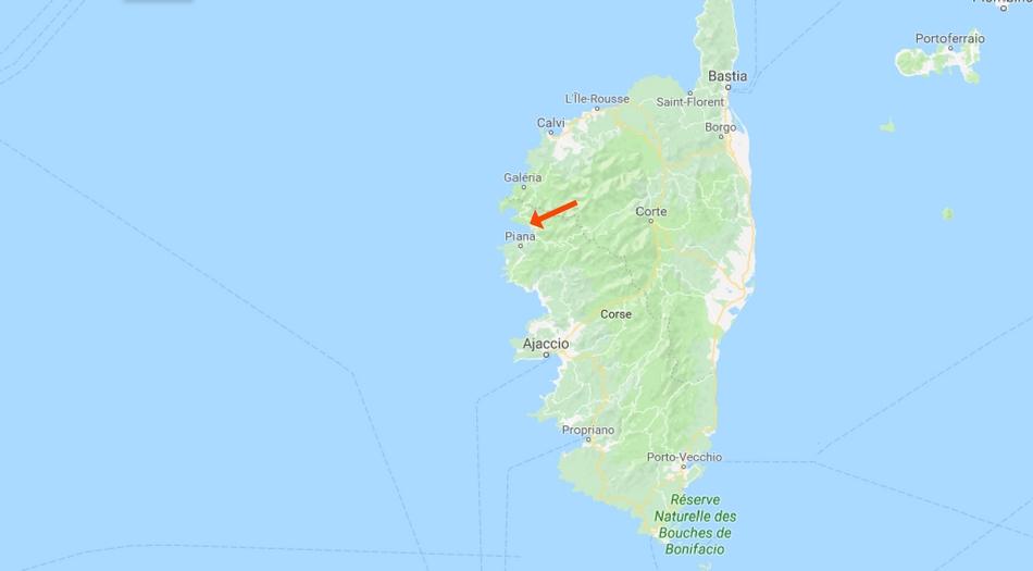 Korsika, Calanche