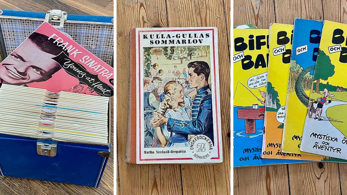 Gamla skivor, böcker och serier