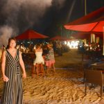 nyår i Sri Lanka – firande på stranden