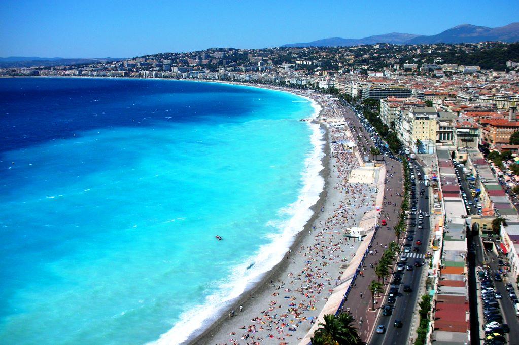 Stranden i Nice. Bildkälla: Wikipedia
