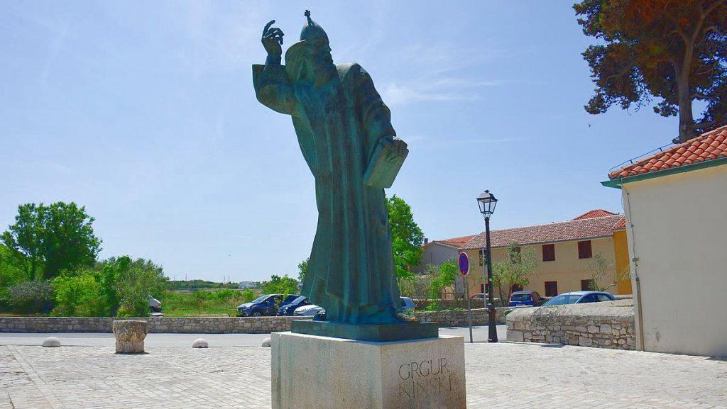 Gregorius av Nin i Kroatien, bredvid världens minsta katedral