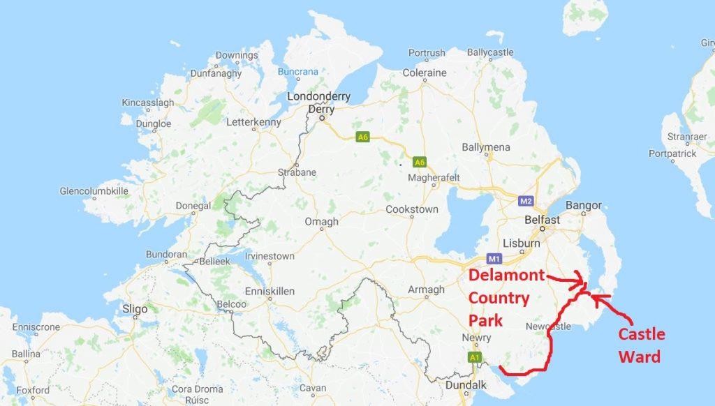 Nordirland karta