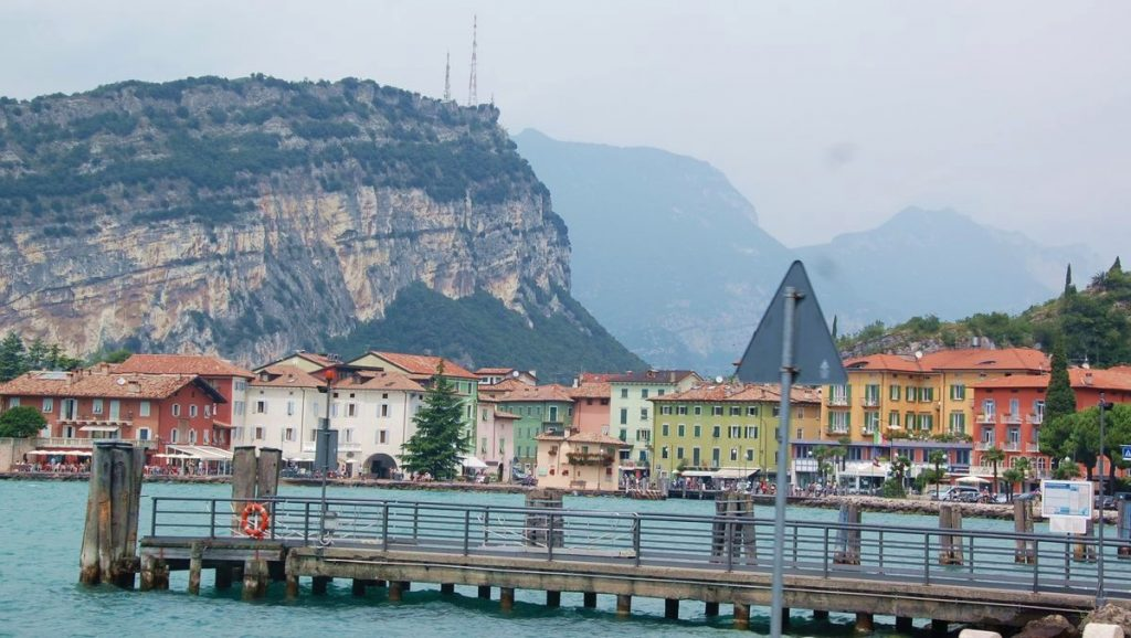 Norra Gardasjön i Italien - Riva del garda