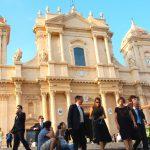 Den historiska staden Noto på Sicilien