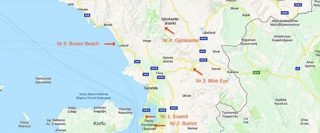 5 bra utflykter runt Saranda i Albanien