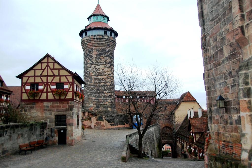 En del av slottet i Nurnberg