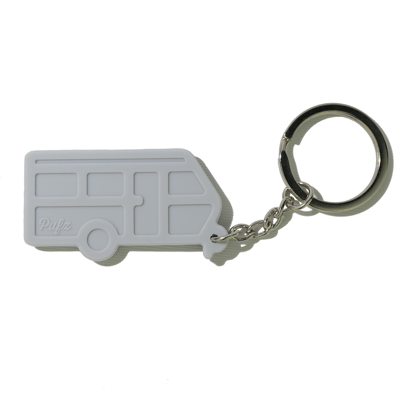 Nyckelring husvagn grå