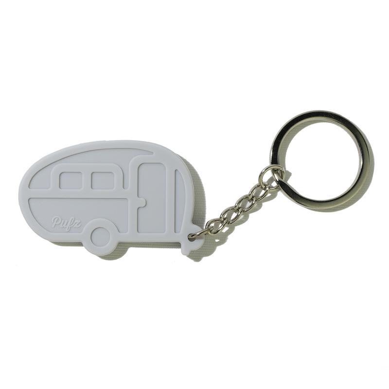 Nyckelring husvagn retro grå
