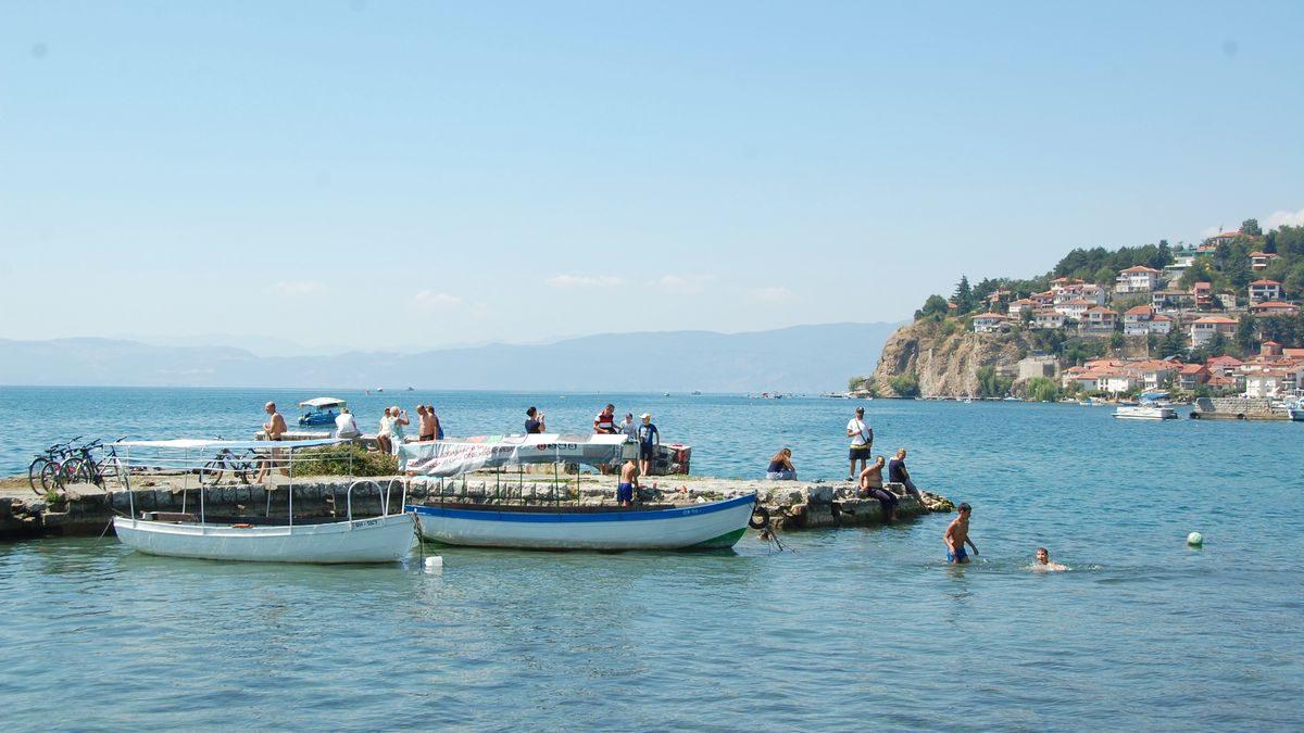 Ohrid-båtar