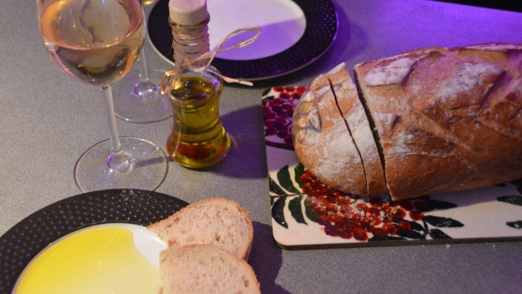 Olivolja med bröd