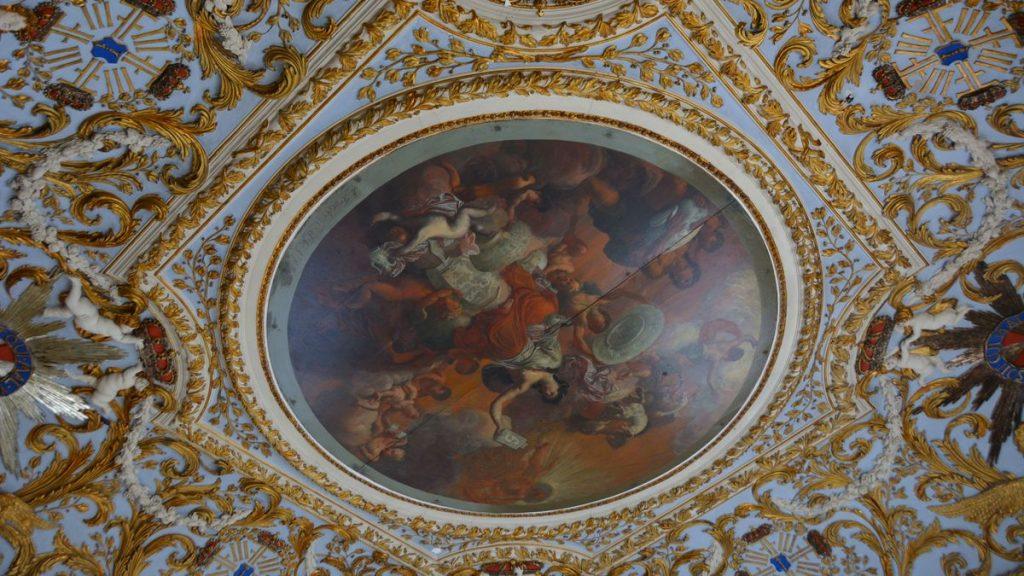 Vackert tak i Oranienburgs slott