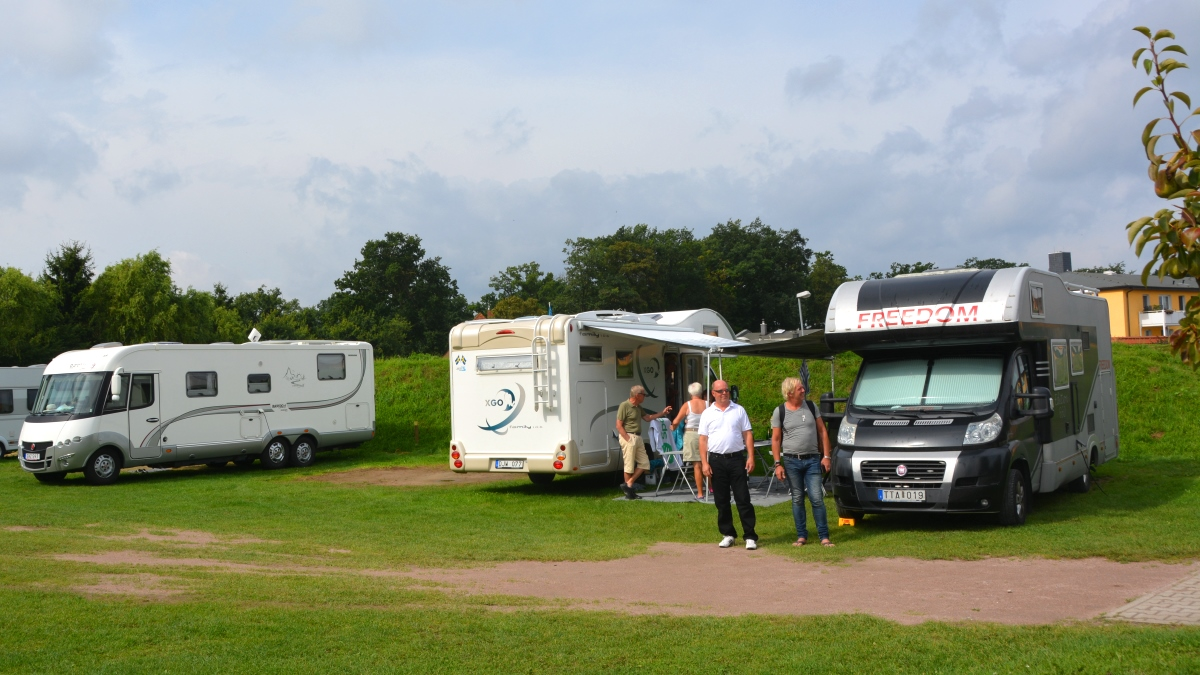 På Ostsee camping vid Östersjökusten i Tyskland
