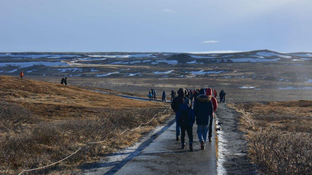 På väg mot Gullfoss
