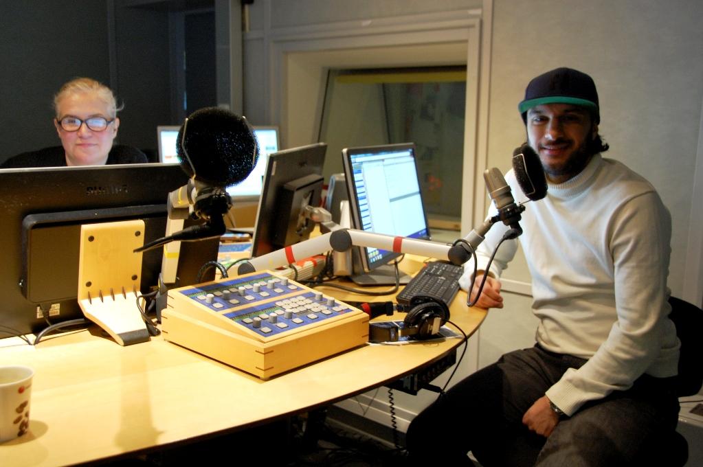 Kim Kärnfalk och Farzad Nouri, radio P5 Sthlm