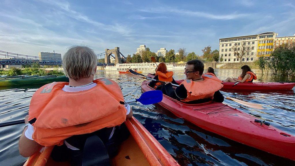 Paddla kanot i Wroclaw