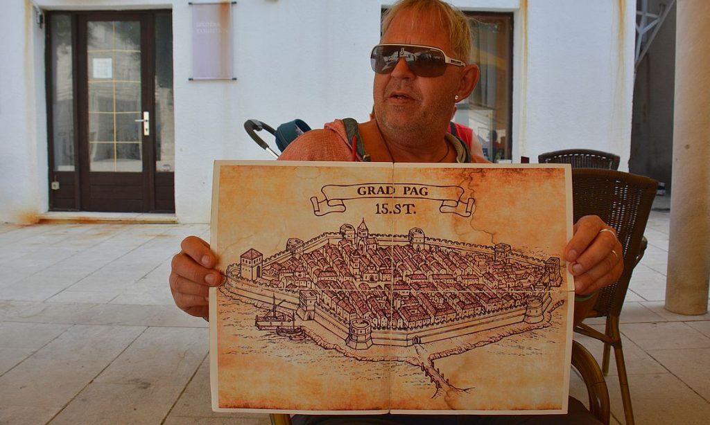 Pag på ön Pag i Kroatien
