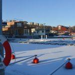 Vinter bland husbåtarna i Pampas marina