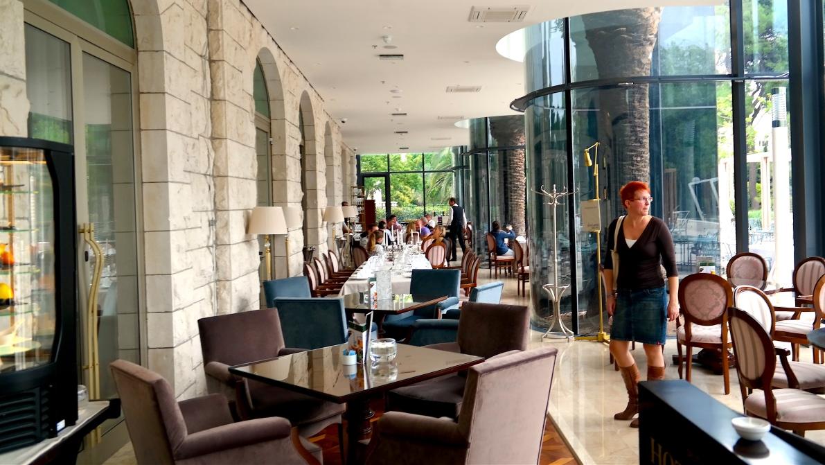 I restaurangen på Hotell Park i Split