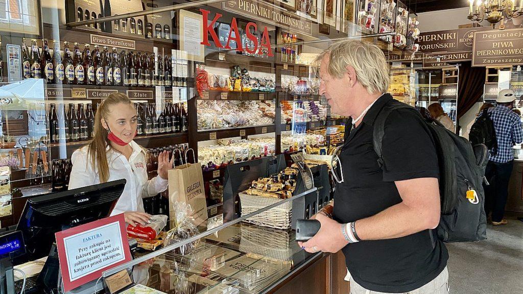 Handla pepparkakor i Torun