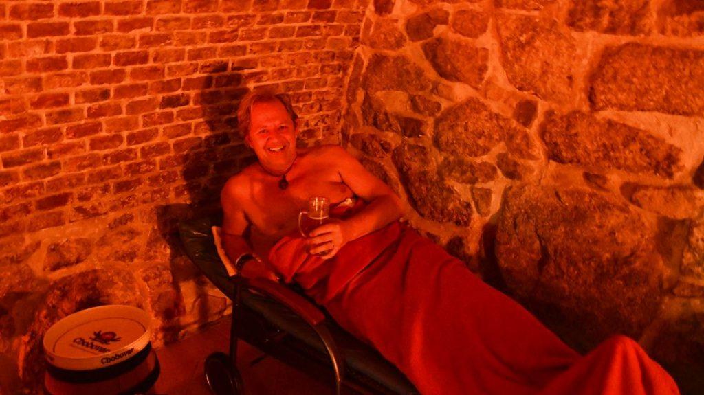 Peter på ölspa i Tjeckien