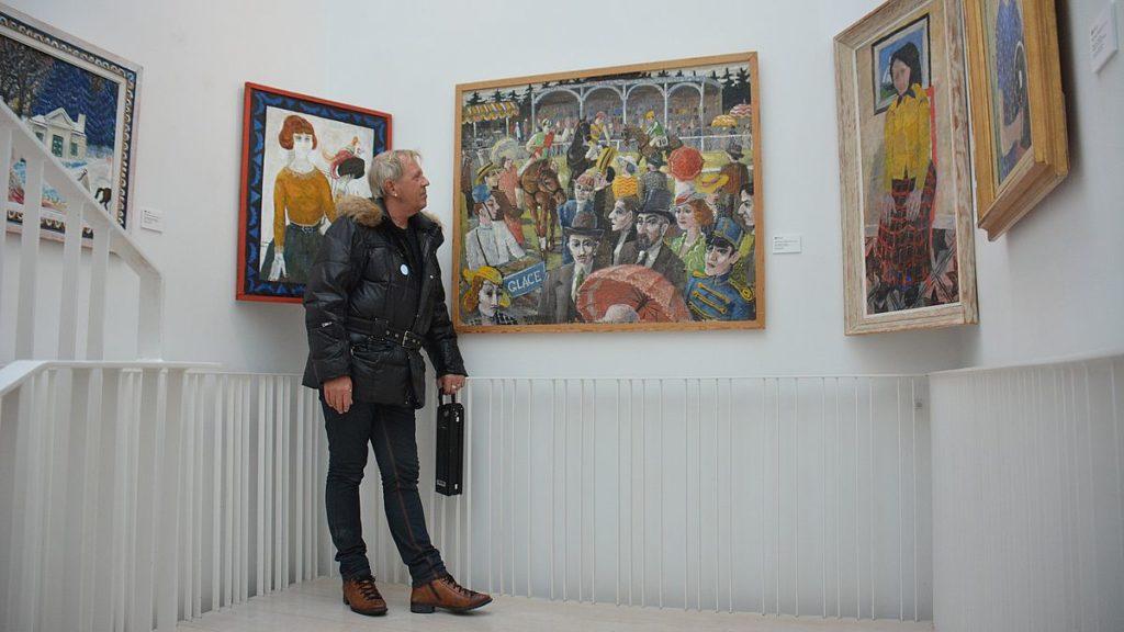 Peter på Sven-Harrys konstmuseum
