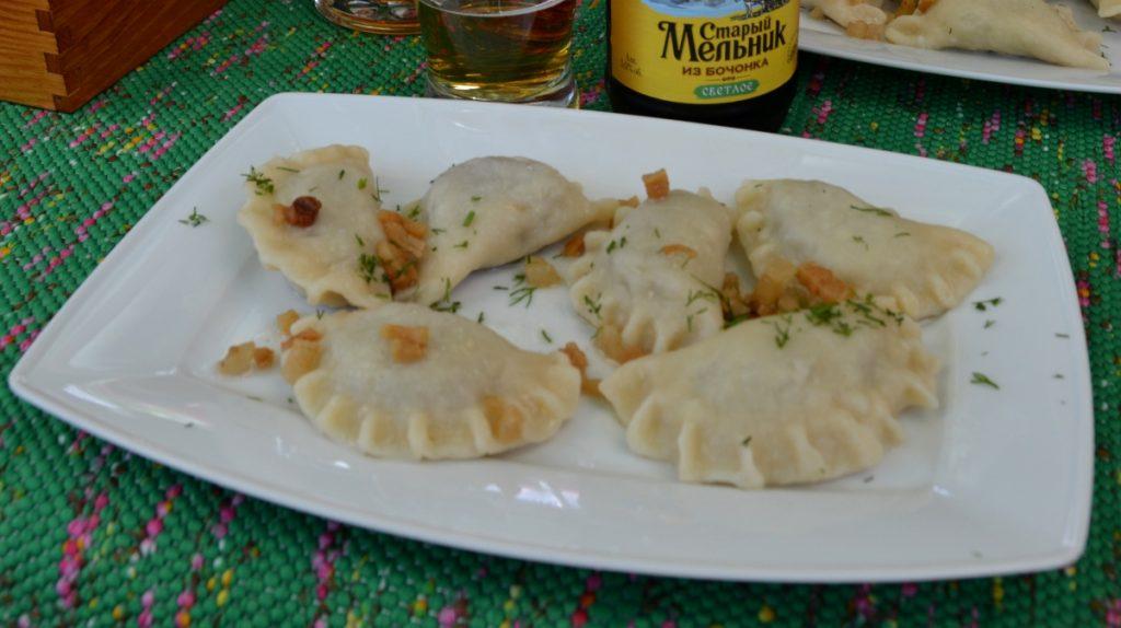 Pierogi är vanlig mat i Polen - just dessa åt vi Bialowieza i den östra delen av landet