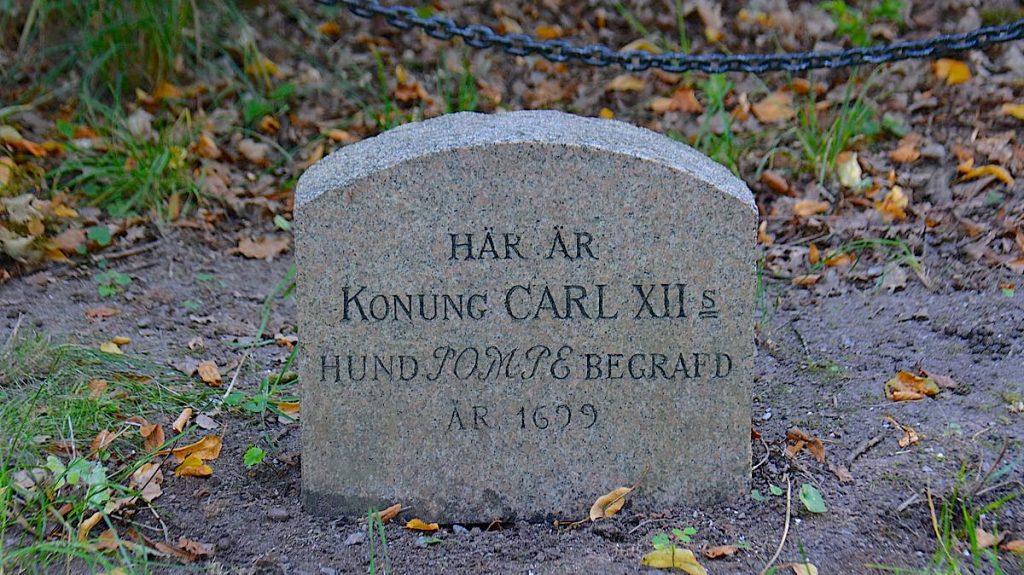 Pompes grav i Karlbergs slottspark i Stockholm