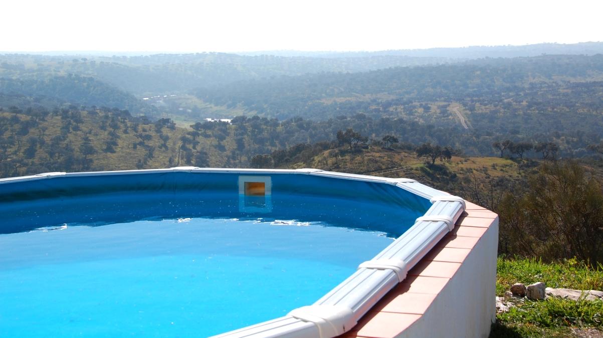 Fantastisk utsikt från poolen!