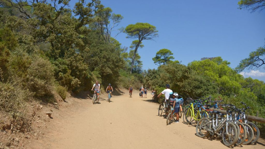 Porquerolles cykelvägar