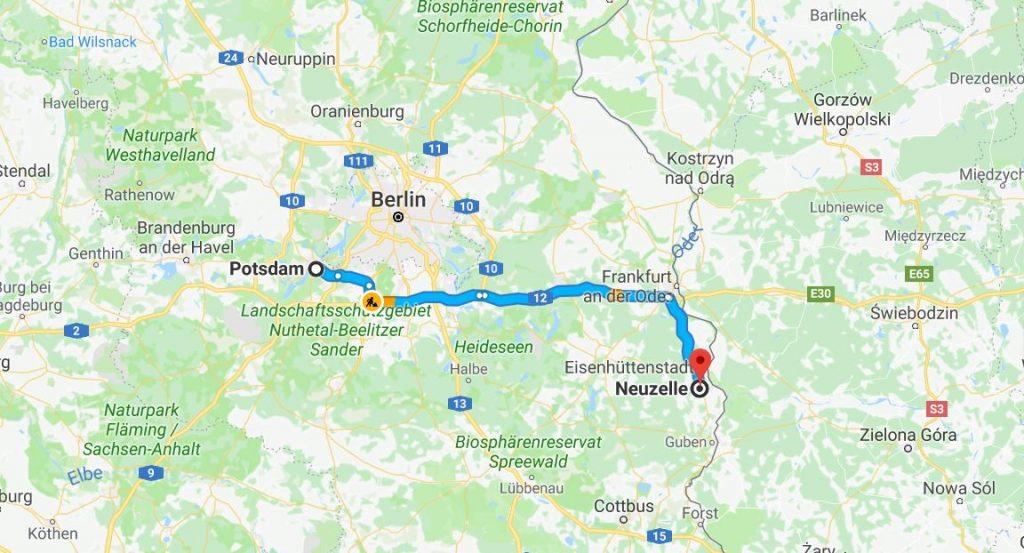 Potsdam till Neuzelle