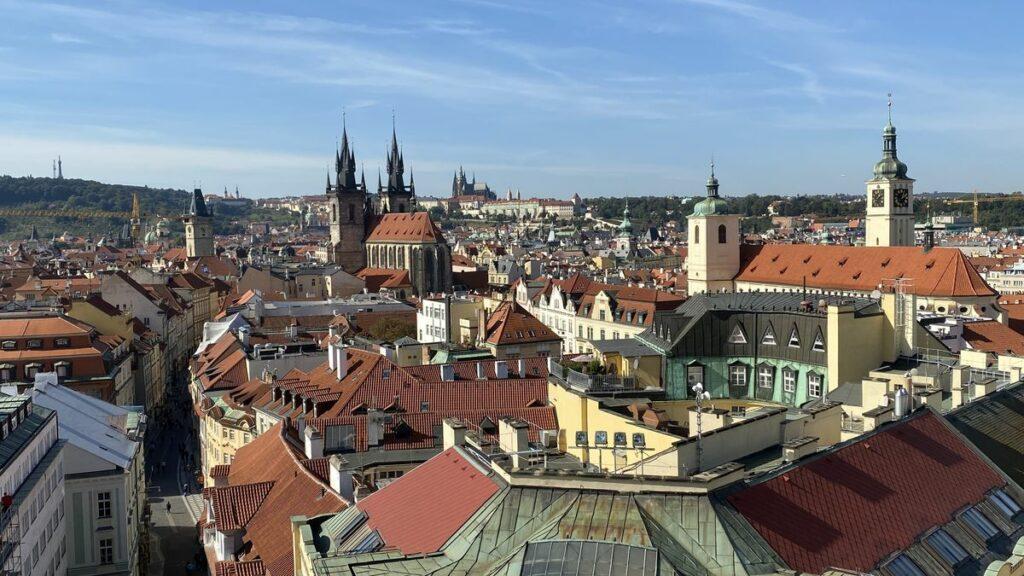 Göra i Prag - utsikt från Krutporten