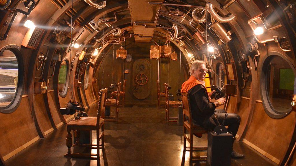 Ubåt på upplevelsecentrum i Tallinn