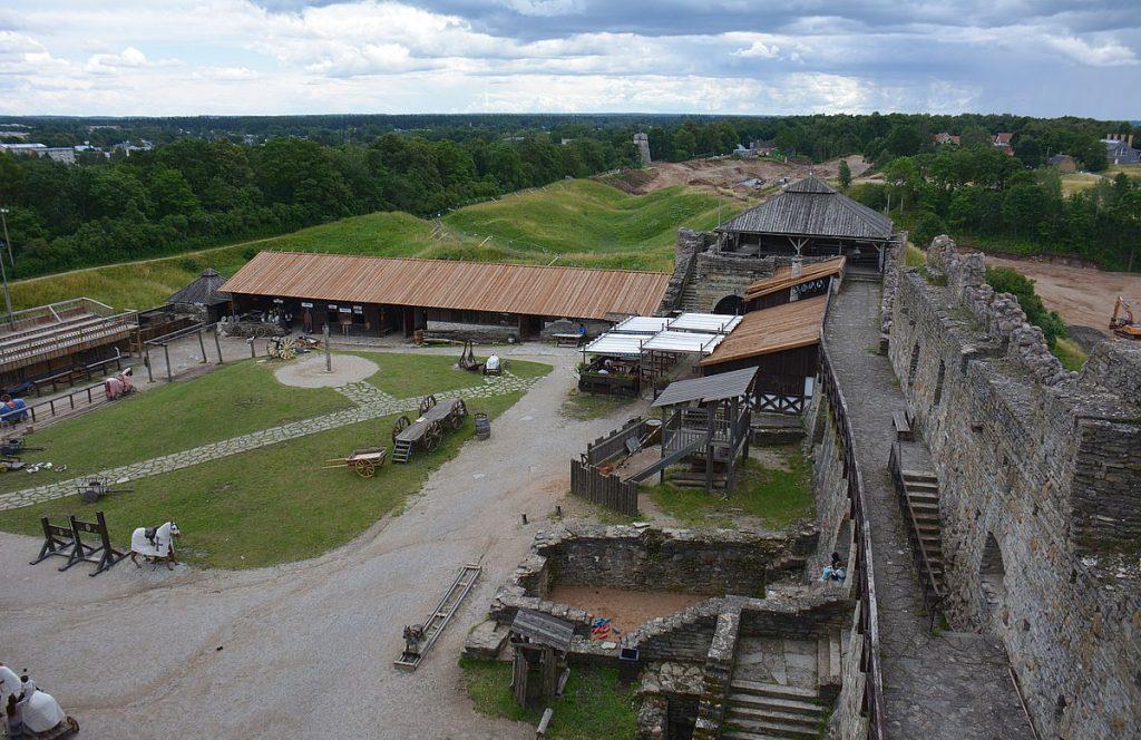 Utsikt från Rakvere fästning i Estland