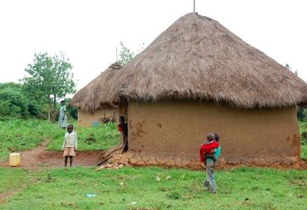 Byn Rangala i Kenya
