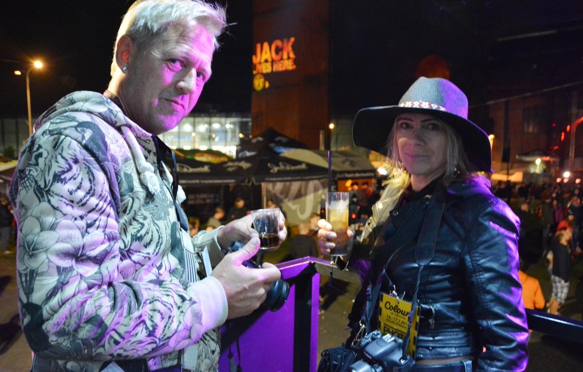 Peter och Anna från bloggen Travel on a Cloud, som också skrivit om Ostrava och om festivalen