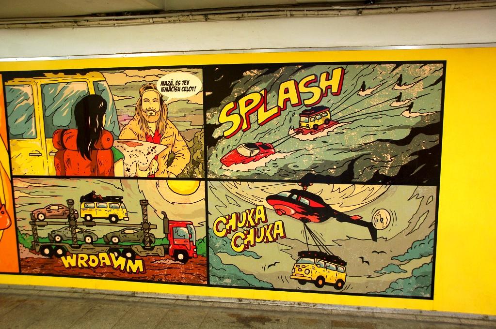 Målning i tunnel i Riga
