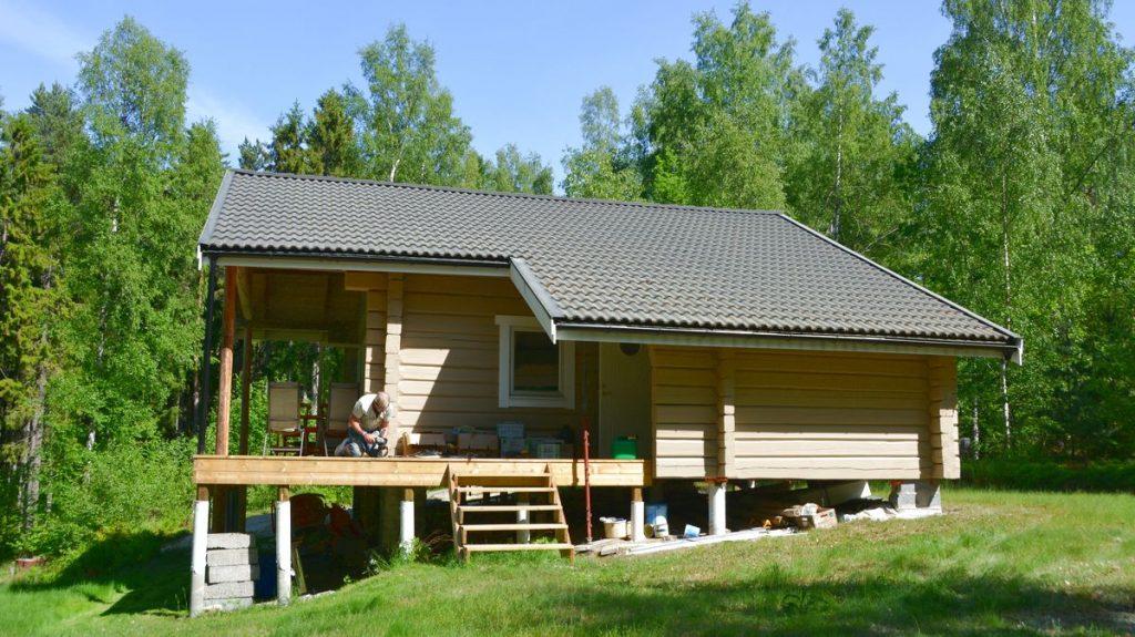 Bygga hus på en ö i Mälaren