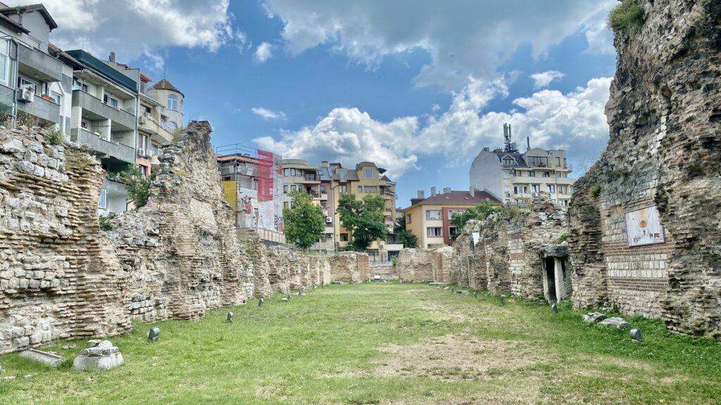 Göra i Varna i Bulgarien - romerskt bad