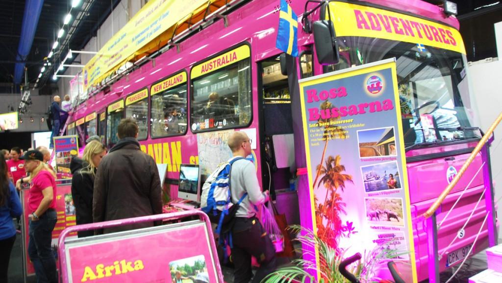 En tur med Rosa bussarna