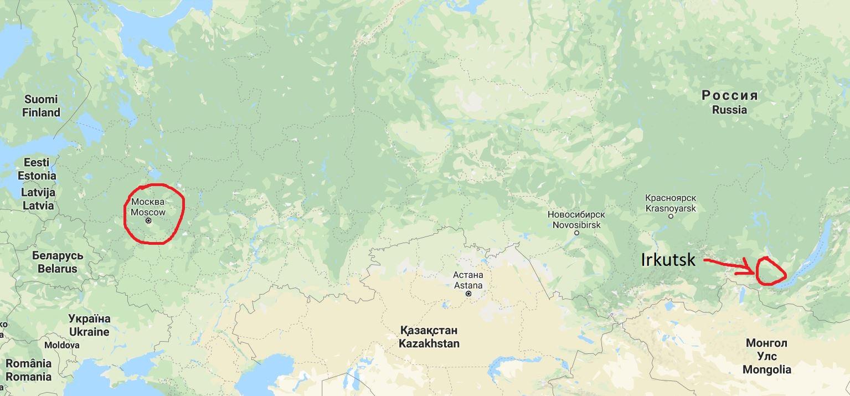 Ryssland - Moskva och Irkutsk