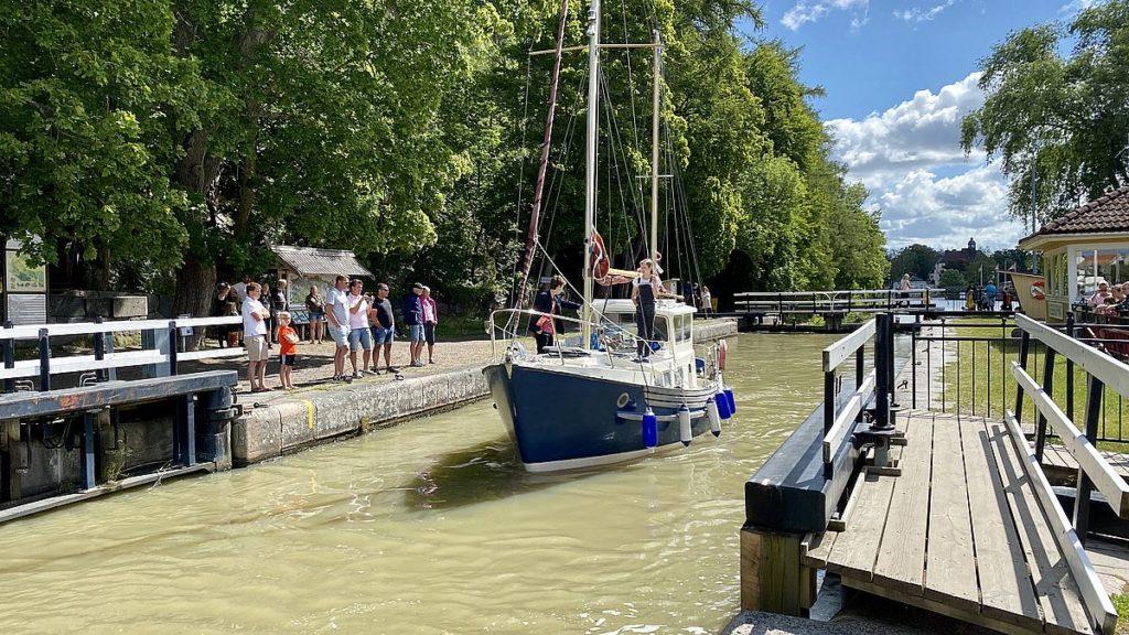 Göta kanal med husbil - Söderköping
