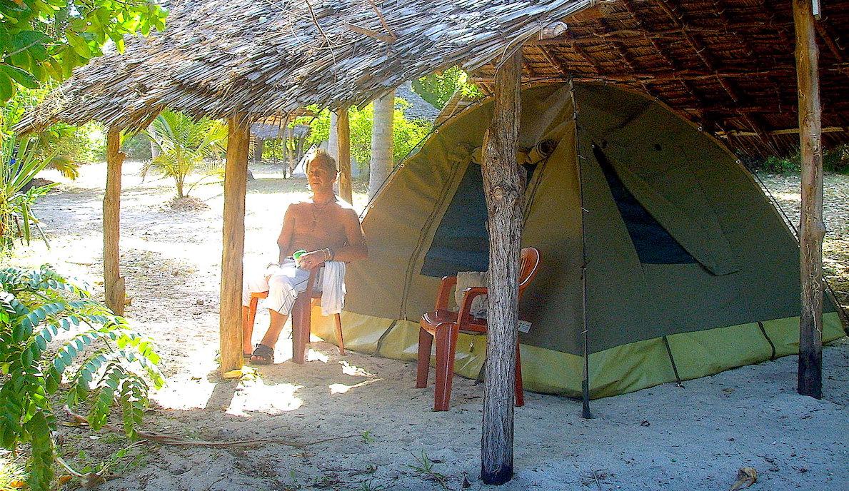 Vårt tält i Tanga