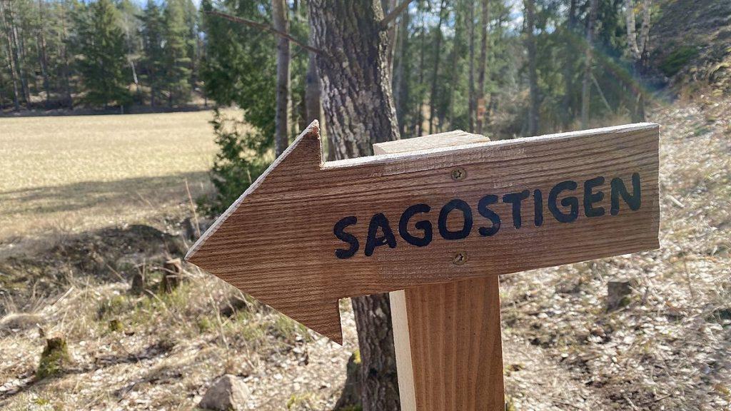 Sagostigen i Törnskogens naturreservat