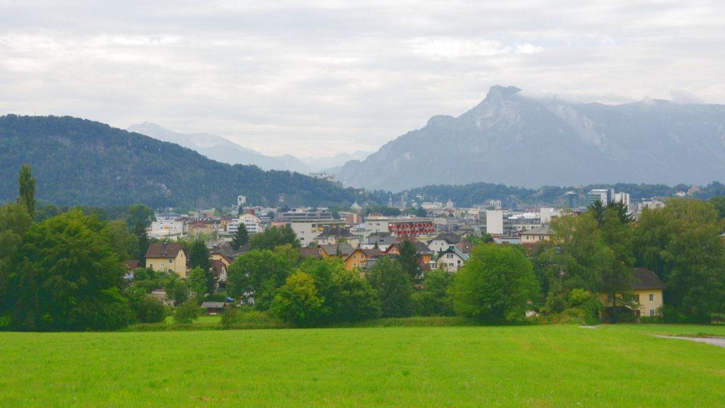 Salzburg utsikt från camping
