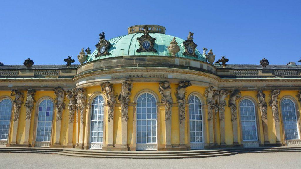 Potsdam i Tyskland - slottet Sanssouci