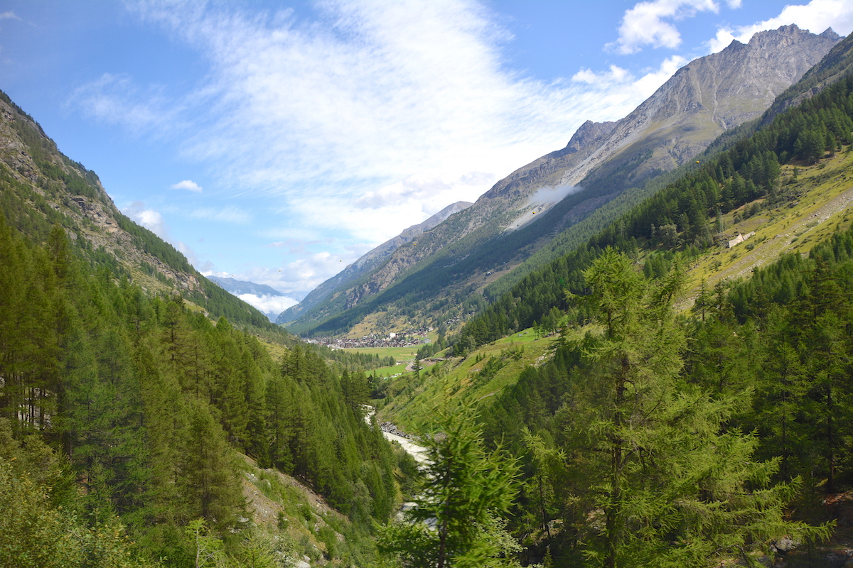Sommar i Zermatt i Schweiz