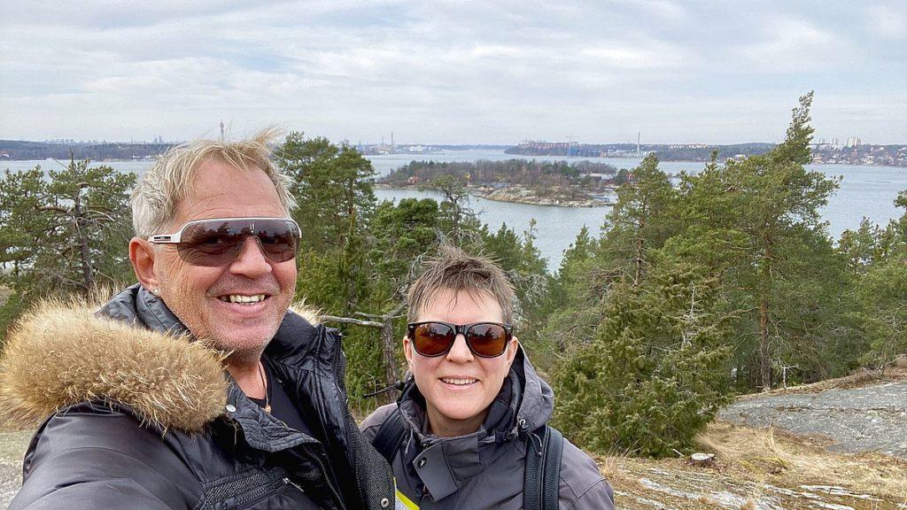 Selfie vid Nyckelvikens naturreservat