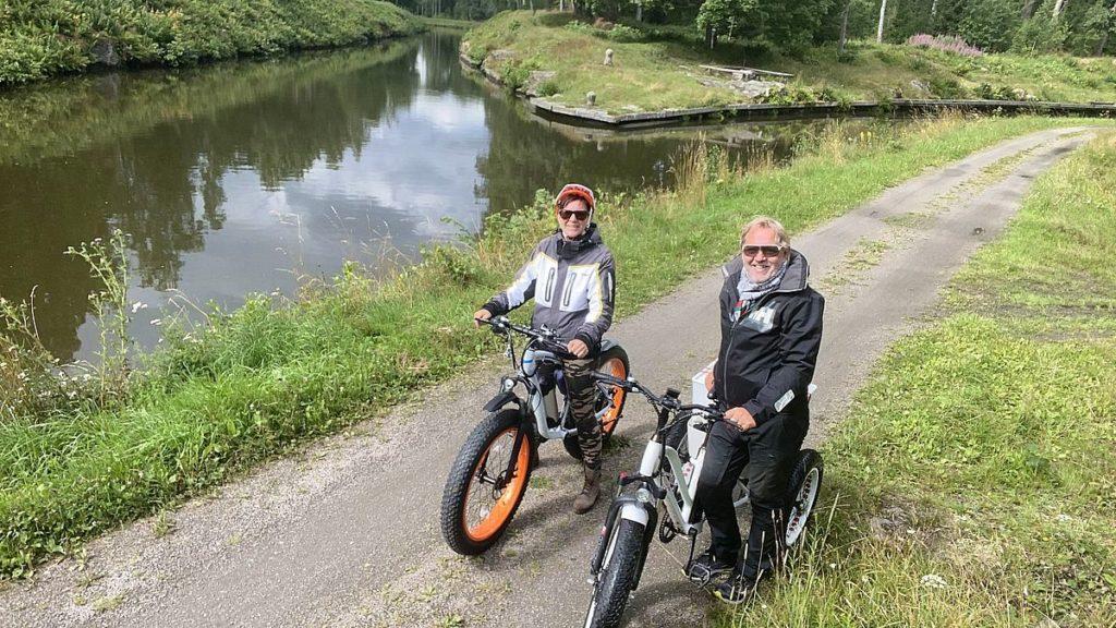 Cykeltur från Wassbackens camping till Tåtorp